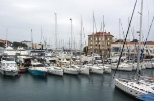 zadar kikötő Horvát tengerpart