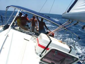szelek szárnyán, sailing, száguldás, vitorlázás, Horvát tengerpart