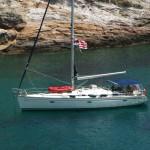 jacht, tenger, vitorlás jacht